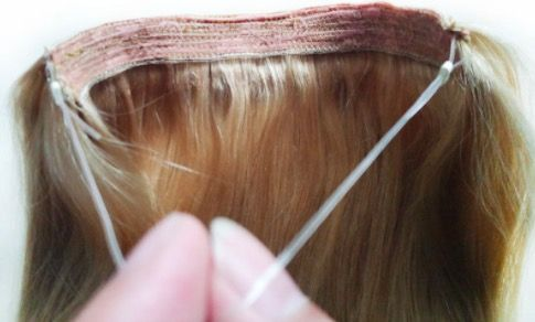 tipos de extensiones de hilo invisible