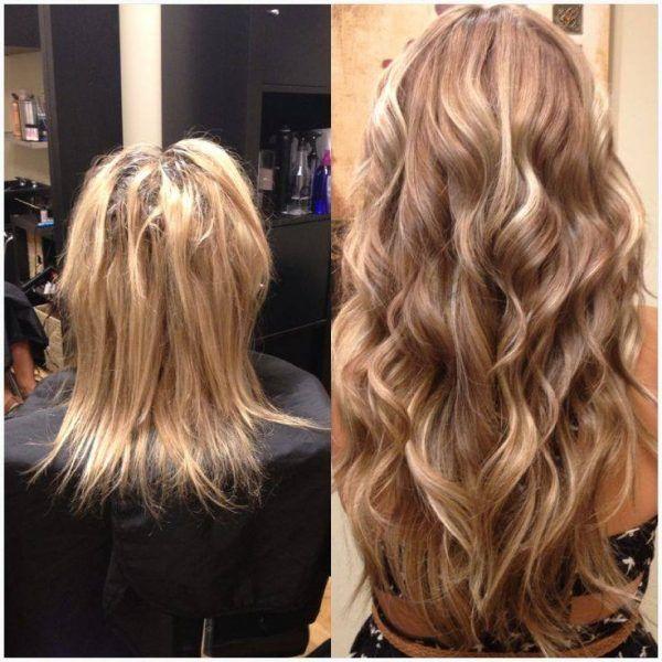 cómo dar volumen al pelo con extensiones