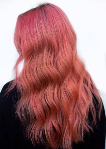 coloracion de cabello 2019 living coral